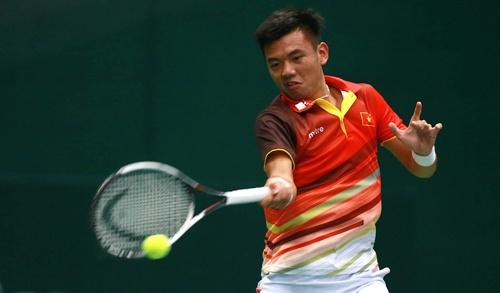 Ly Hoang Nam khong the tao bat ngo truoc tay vot tung thang Federer hinh anh