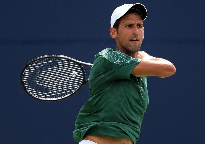Highlights Novak Djokovic vs Mirza Basic tai vong 1 Rogers Cup hinh anh