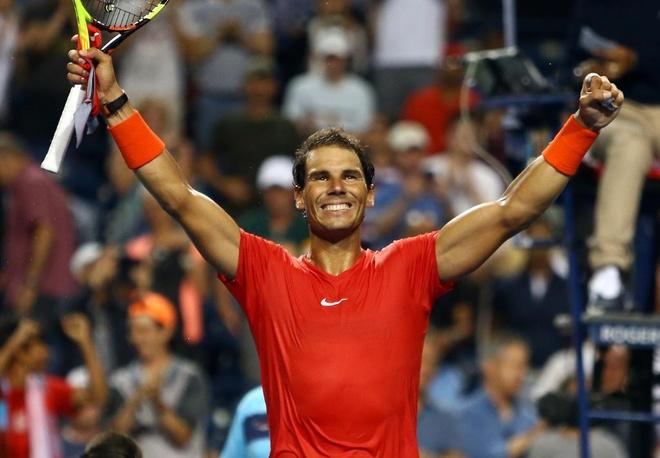 Vao ban ket Rogers Cup, Nadal chac suat du giai 'bat hung' hinh anh 1