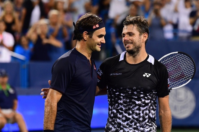 Nguoc dong ngoan muc truoc Wawrinka, Federer vao ban ket Cincinnati hinh anh 1
