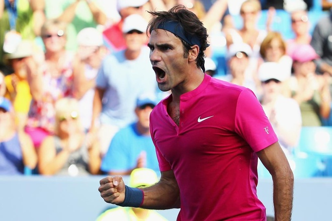 Roger Federer lan thu 8 vao chung ket Cincinnati Masters hinh anh