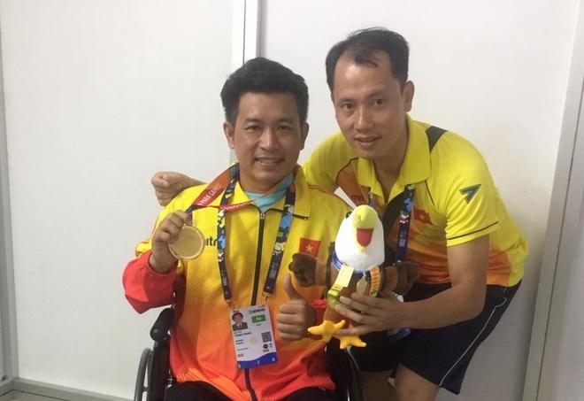 Nguyen Thanh Trung gianh HCV tai Asian Para Games hinh anh