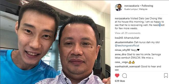Lee Chong Wei sut can nghiem trong nhung nu cuoi da tro lai hinh anh 1