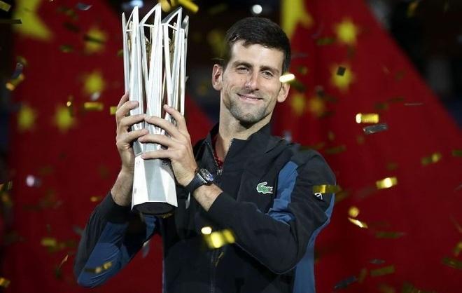 Djokovic vo dich Thuong Hai Masters, ap sat ngoi so 1 the gioi hinh anh