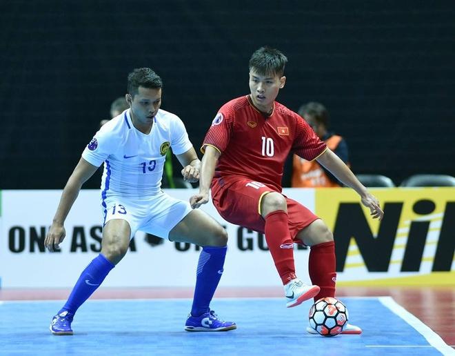 Doi futsal Viet Nam thang 9-0 trong tran ra quan tai giai Dong Nam A hinh anh