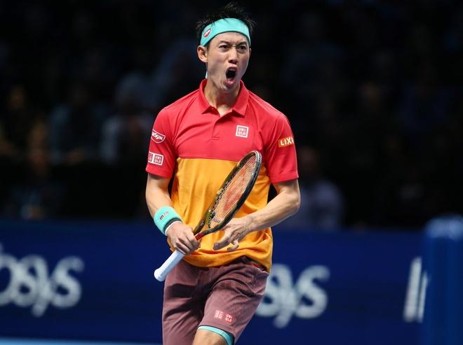 Federer thua trang Nishikori trong tran ra quan tai ATP Finals hinh anh