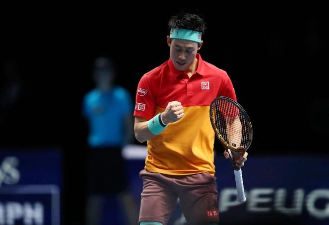 Federer thua trang Nishikori trong tran ra quan tai ATP Finals hinh anh 1