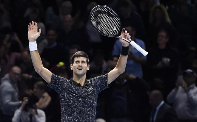Thang de Anderson, Djokovic vao chung ket ATP Finals hinh anh