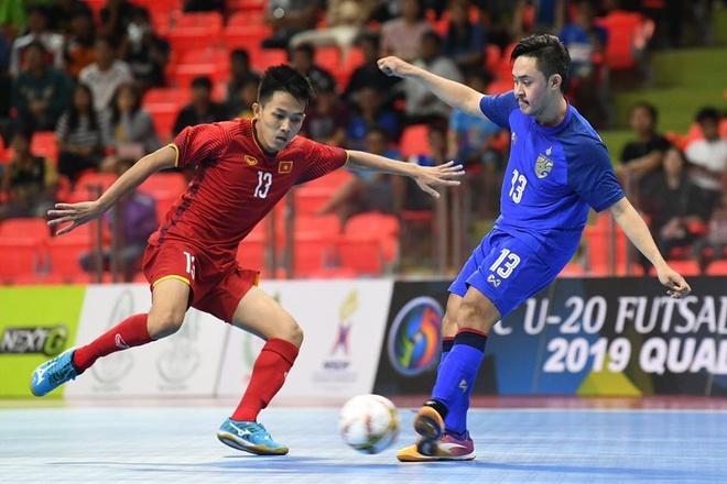 Tuyen U20 futsal Viet Nam hoa dang tiec truoc Thai Lan hinh anh