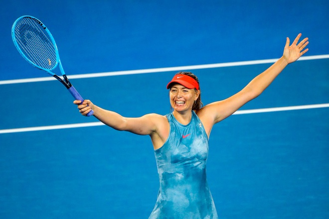 Sharapova bien Wozniacki thanh cuu vuong Australian Open hinh anh