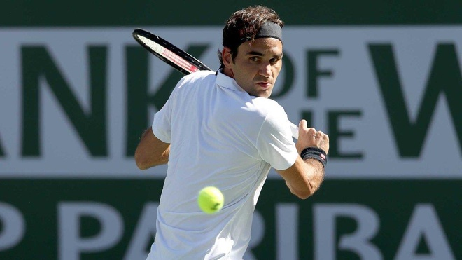 Federer lan thu 6 vo dich Indian Wells anh 1