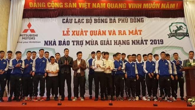 CLB Phu Dong noi khong voi tieu cuc trong mua giai anh 1
