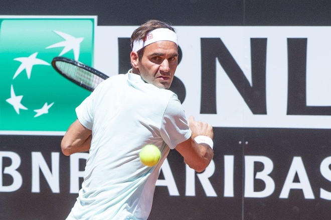 Federer,  Nadal,  Djokovic vao tu ket Rome Masters anh 1