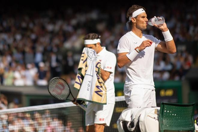 Federer an mung day cam xuc khi ha Nadal de vao chung ket Wimbledon hinh anh 3