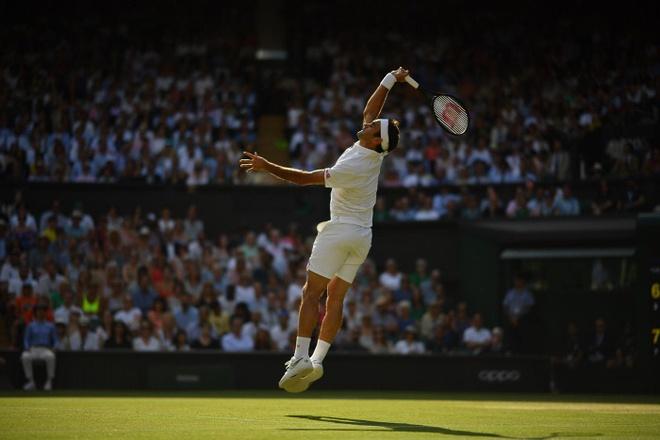 Federer an mung day cam xuc khi ha Nadal de vao chung ket Wimbledon hinh anh 5