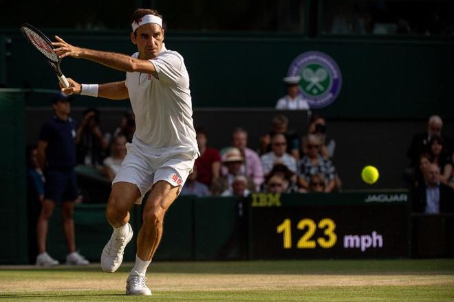 Federer an mung day cam xuc khi ha Nadal de vao chung ket Wimbledon hinh anh 4