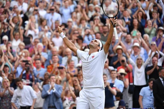 Federer an mung day cam xuc khi ha Nadal de vao chung ket Wimbledon hinh anh 7