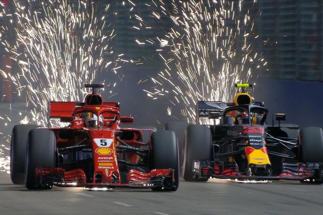 Leclerc vuot Hamilton gianh pole chang F1 Singapore hinh anh