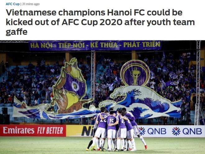 Bao chau A bat ngo khi CLB Ha Noi bi cam thi dau tai AFC Cup hinh anh 1