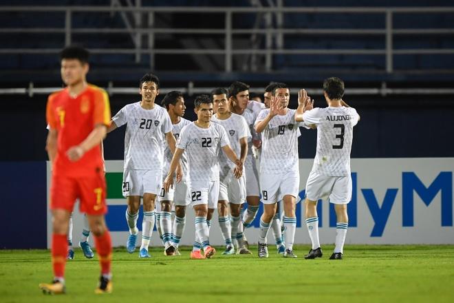 Thua Uzbekistan 0-2, U23 Trung Quoc bi loai khoi giai chau A hinh anh 1 AFC_U_23_CHAMPIONSHIP_2020_Match_7_.jpg