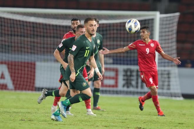 Hoa Bahrain 1-1, U23 Australia vao tu ket chau A cung Thai Lan hinh anh 1 AFC_U_23_CHAMPIONSHIP_2020_Match_15_.jpg