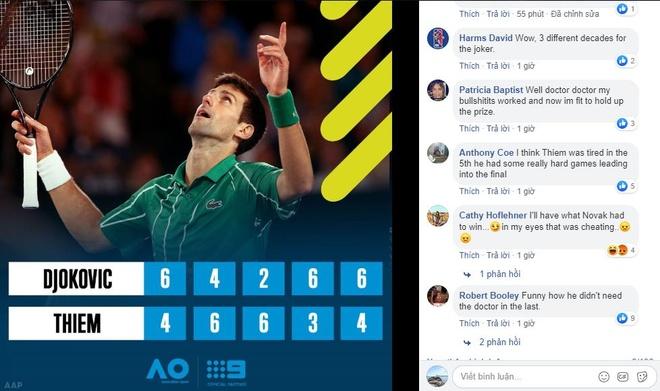 Djokovic bi to dung chieu tro de vo dich Australian Open hinh anh 1 screenshot_1580654841.jpeg