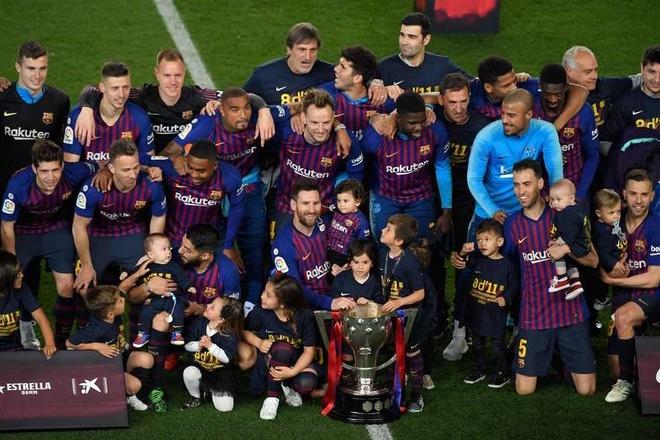 Barca vo dich La Liga anh 1