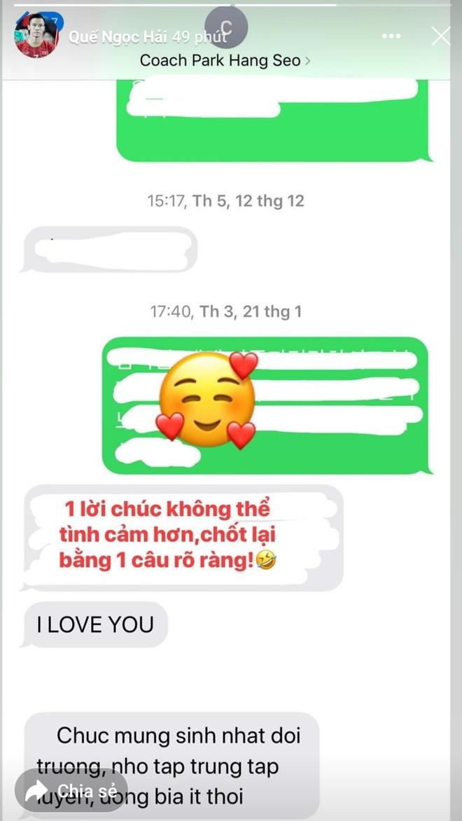 HLV Park chuc sinh nhat Que Ngoc Hai anh 1