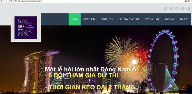 Chan trang web gia mao Ban to chuc le hoi phao hoa quoc te Da Nang hinh anh 1