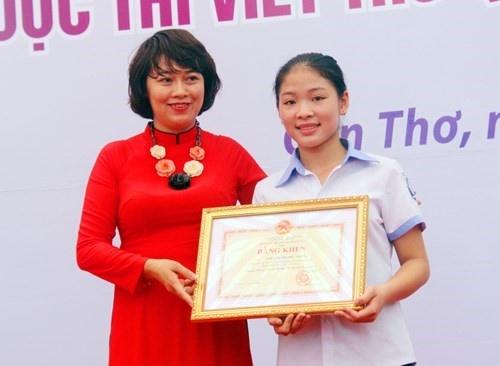 Dau an 30 Viet Nam tham gia Cuoc thi Viet thu quoc te UPU hinh anh