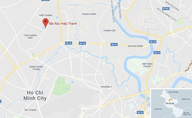 Bai rac tam Hiep Thanh,  18 nam o nhiem,  380 tan rac,  boc mui anh 4