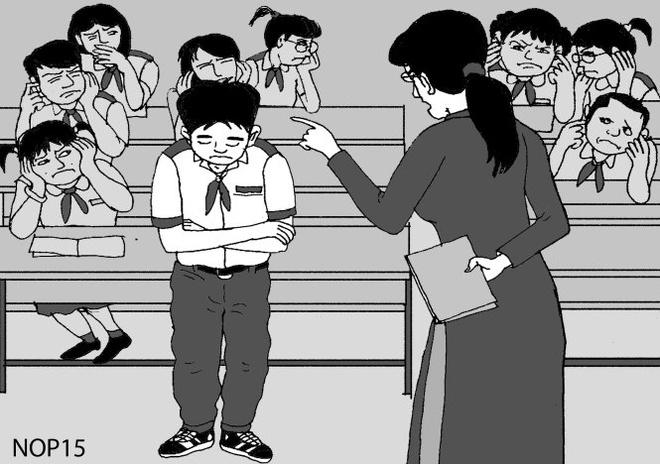 Mot nguoi mac loi, ca lop 'len thot' hinh anh 1 Cô giáo phê bình học sinh.