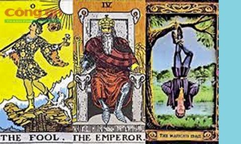 Tro bip qua nhung la bai Tarot hinh anh 1 Một số hình vẽ trên bài Tarot. Ảnh: Báo Công An TP.HCM