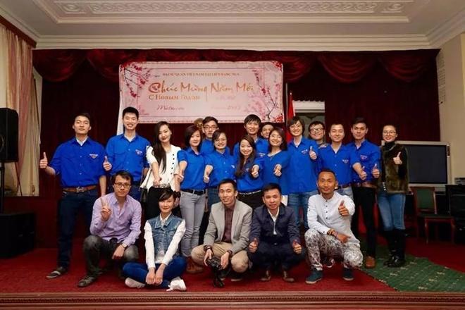 Hội du học sinh Việt Nam tại Nga tổ chức lễ mừng năm mới.