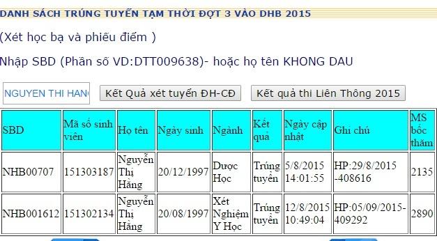 Dai hoc Hong Bang cong bo danh sach trung tuyen tam thoi NV2 hinh anh
