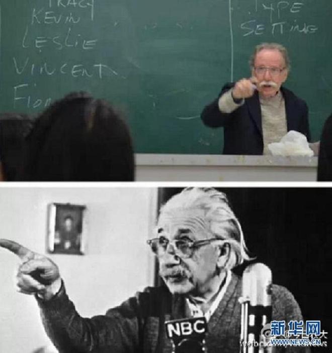 Giao su noi tieng cong dong mang vi giong Einstein hinh anh 2