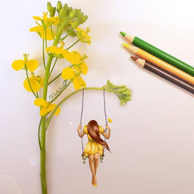 Nu hoa si 19 tuoi ve tranh bang my ong, salad hinh anh 5