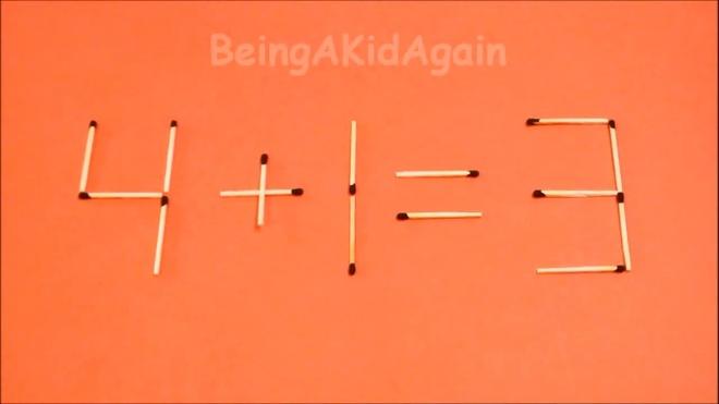Dap an bai toan di chuyen que diem, bien sai thanh dung hinh anh 3 4 + 1 = 3 thành 4 + 1 = 5.