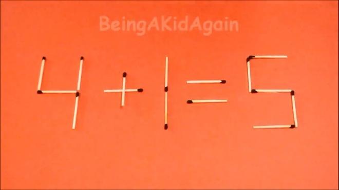Dap an bai toan di chuyen que diem, bien sai thanh dung hinh anh 4 4 + 1 = 3 thành 4 + 1 = 5.