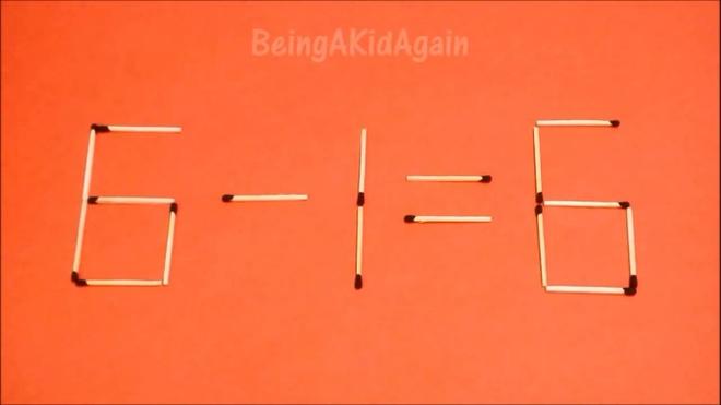 Dap an bai toan di chuyen que diem, bien sai thanh dung hinh anh 9 6 - 1 = 6 thành 5 + 1 = 6.