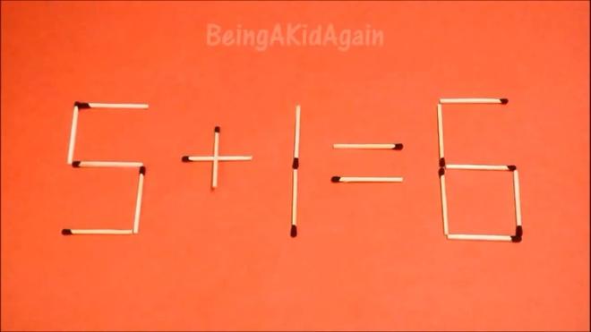 Dap an bai toan di chuyen que diem, bien sai thanh dung hinh anh 10 6 - 1 = 6 thành 5 + 1 = 6.