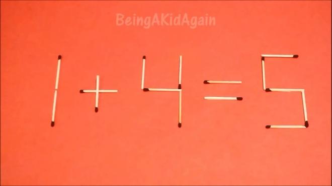 Dap an bai toan di chuyen que diem, bien sai thanh dung hinh anh 12 7 - 4 = 5 thành 1 + 4 = 5.