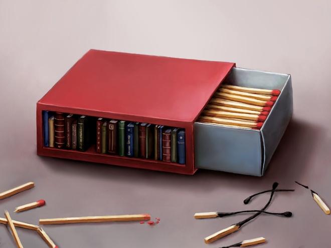 Bo tranh lot ta nhung mat trai cua cuoc song hien dai hinh anh 12 Sách là ánh sáng dẫn lối.