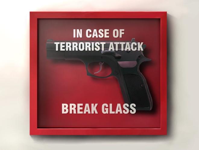 Bo tranh lot ta nhung mat trai cua cuoc song hien dai hinh anh 5 Khi khủng bố xuất hiện...hãy đập bể kính.