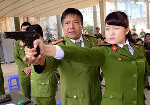 Xay cum truong Cong an tai tru so Dai hoc Ha Hoa Tien hinh anh