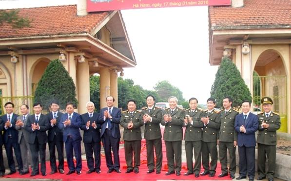 Xay cum truong Cong an tai tru so Dai hoc Ha Hoa Tien hinh anh 1