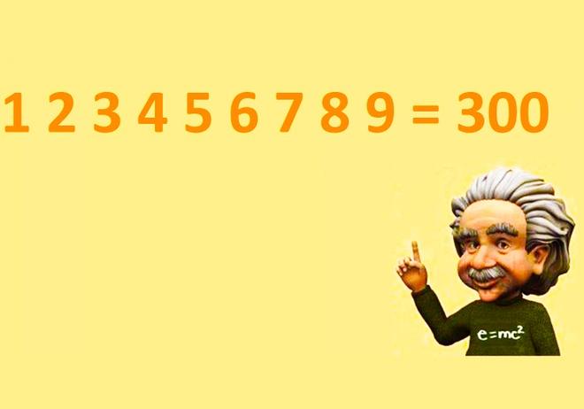 Phep toan dac biet: 1 2 3 4 5 6 7 8 9 = 300 hinh anh 1