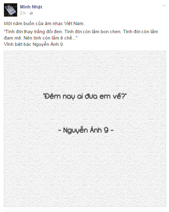 Nhac si Nguyen Anh 9 qua doi - loi tam biet voi noi buon hinh anh 2