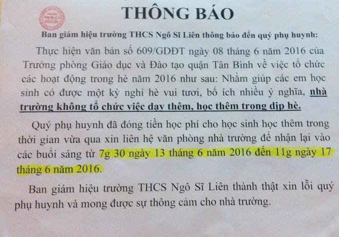 'Nhieu phu huynh hoi toi tai sao tra tien hoc them' hinh anh 1