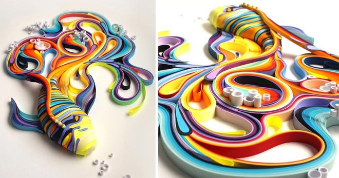 Xep hang nghin to giay thanh tranh 3D dep den tung chi tiet hinh anh 10
